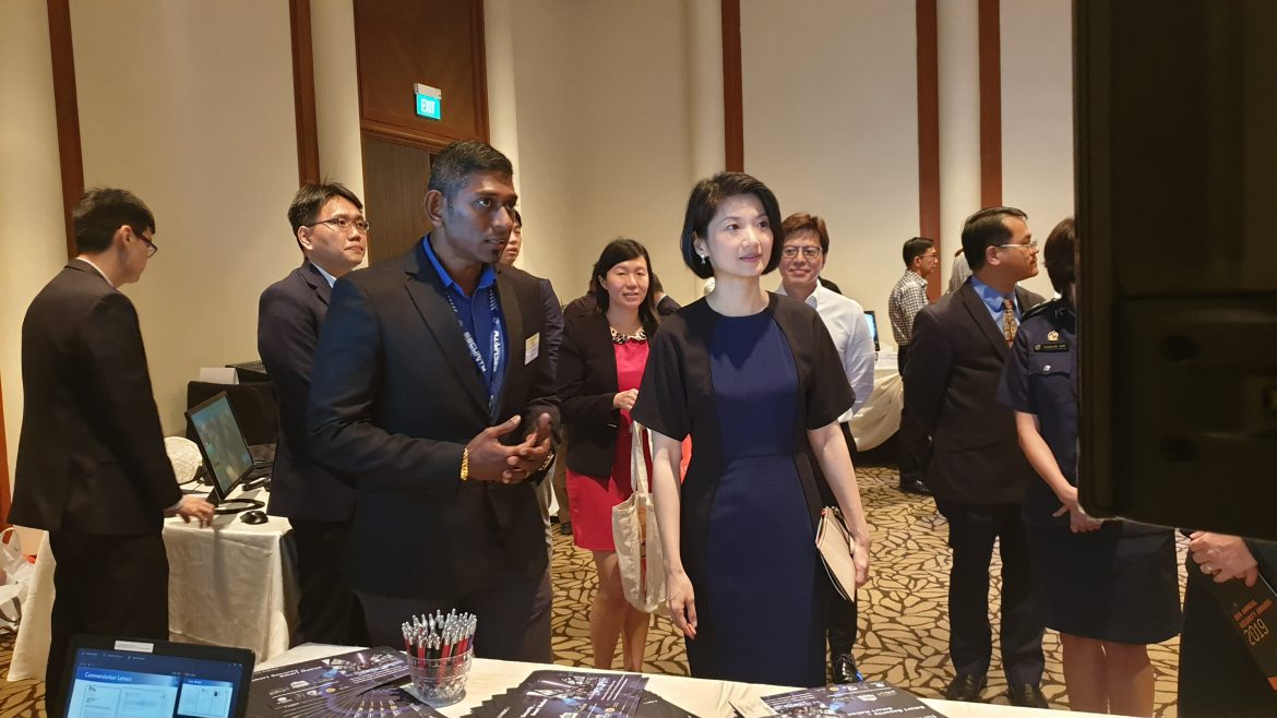 A Concorde Security staff with MP Sun Xueling at the Annual Hotel Security Awards Presentation and Hotel Security Conference 2019