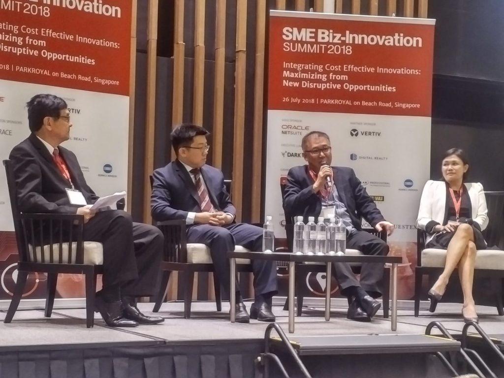 Mr Alan Chua speaking at the SME Biz-Innovation Summit 2018