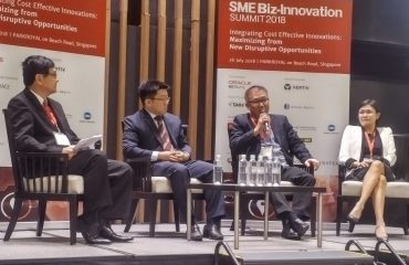 Mr Alan Chua speaking at the SME Biz-Innovation Summit 2018
