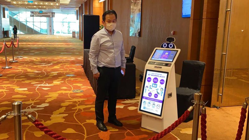 Concorde Security CG5 ServBot singapore trade show 2021